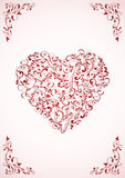 Valentine's card with ornate Heart Stock Image
