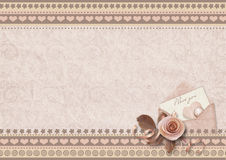 Valentine's card with space for photo and text Royalty Free Stock Photography