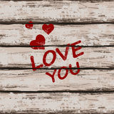 Valentine's card with text love you Stock Photo