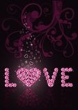 Valentine's card. vector Royalty Free Stock Photos