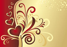 Valentine's card (vector) Royalty Free Stock Photography