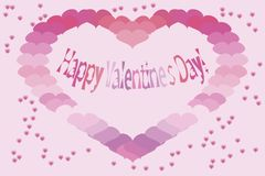 Valentine's card. Vector illustration. Stock Photography