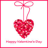Valentine S Card With Heart Royalty Free Stock Photography