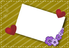 Valentine's card2. A valentine's card on a striped background with hearts and flowers.EPS file available Royalty Free Stock Images