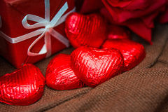 Valentine's Chocolate Stock Photography