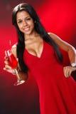 Valentine's cocktail girl Stock Photos