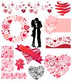 Valentine's collection of different hearts Stock Photo