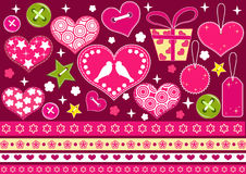 Valentine's collection for scrapbook. Stock Images
