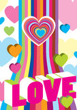 Valentine's color decoration Royalty Free Stock Images