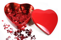 Valentine's confetti Royalty Free Stock Photography