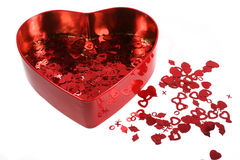 Valentine's confetti2 Royalty Free Stock Photos