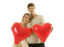 Valentine's couple Stock Photography