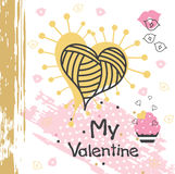 Valentine`s creative card Royalty Free Stock Photography