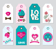 Valentine`s creative gift tags Royalty Free Stock Images