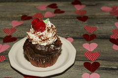 Valentine`s Cupcake Royalty Free Stock Image