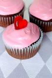 Valentine's cupcakes Stock Photography
