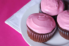 Valentine's cupcakes Stock Images