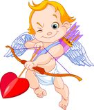 Valentine's Cupid. Illustration of a Valentine's Day cupid ready to shoot his arrow vector illustration