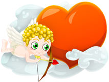 Valentine's cupid. Cupid with heart. clipping path included Stock Photos
