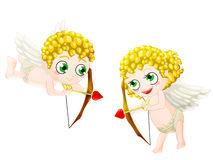 Valentine's cupid. Couple of cupid. clipping path included Stock Images