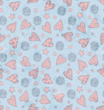 Valentine`s Cute Pattern Royalty Free Stock Photos