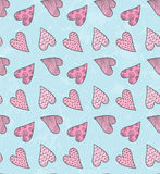 Valentine`s Cute Pattern Royalty Free Stock Photo