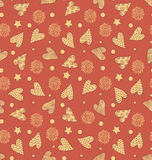 Valentine`s Cute Pattern Stock Photography