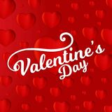 Valentine's dat card with red pattern background. For web design and application interface, also useful for infographics. Vector illustration vector illustration