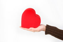 Valentine's day. Women in hand over the heart symbol Royalty Free Stock Photo