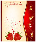 Valentine's day. Vector holiday background. Valentine's day Stock Images