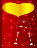 Valentine's day. Illustration of Valentine's day with interwined glasses - vector available Stock Image