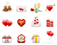 Valentine's Day. Icon set Royalty Free Stock Photo
