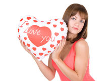Valentine's Day. Happy Valentine's Day. Face portrait Royalty Free Stock Photography
