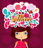 The Valentine's day royalty free illustration