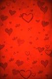 Valentine's day. Red grunge background Stock Image