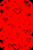 Valentine's day. Red grunge background Royalty Free Stock Images