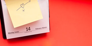 Valentine's day. Love note Royalty Free Stock Photography