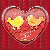 Valentine's Day. Wallpaper Red hearts of different sizes to form the heart Royalty Free Stock Photography