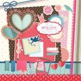 Valentine`s Day. Scrapbook elements. Vector illustration Royalty Free Stock Photos