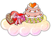 Valentine's day. Holiday sweetnesses; vector illustration; isolated Royalty Free Stock Photos