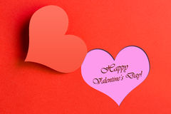Valentine's day. Red valentine's day background useful as postcard or greeting card Stock Photo