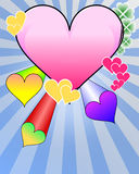 Valentine's day. Illustrators and color hearts Stock Images