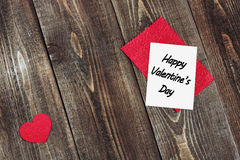 Valentine's Day. Greeting card for Valentine's Day stock photography