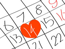 Valentine s Day. An illustration of a valentine's day calendar vector illustration