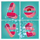 Valentine's day. Some text in blue background and some white hearts for valentine's day Royalty Free Stock Images