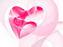 Valentine's day. Two hearts interwind together, place for text Vector Illustration