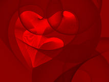 Valentine's day. Two hearts interwind together, place for text Stock Photos