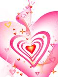 Valentine's day. Hearts, place for text Royalty Free Stock Photo