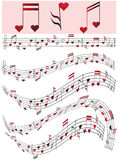 Valentine's day. Music for favorite in the Valentine's day Royalty Free Stock Images