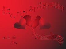 Valentine's day. Illustration of Valentine's day, red Stock Photos